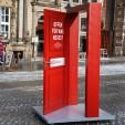 Die rote Tür. Werbemaßnahme